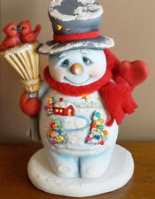 Ceramic Bisque Ready to Paint Small Jack the Snowman with electric