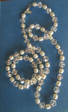 MIRIAM HASKELL Freshwater Pearl & Faceted Bead NECKLACE STRAND Signed PATENT 60s
