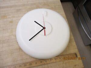 """Umbra White 12"""" Wall Clock  modernist ceramic"""