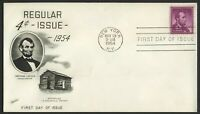 #1036 4c Lincoln, Fleetwood-Addressed FDC **ANY 4=FREE SHIPPING**