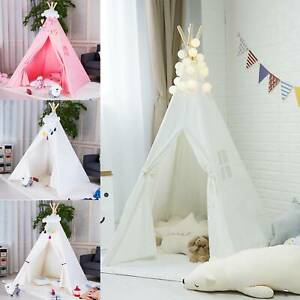 New Kids Teepee wigwam childrens play tent childs garden or indoor toy 5' Canvas