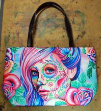 Ella Calavera Sugar Skull Girl Purse Large Handbag Pastel Goth Punk Pretty Dark