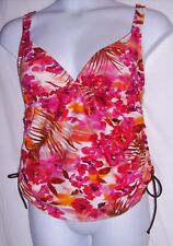 St. John's Bay Size 16 Ruched Floral Tankini Top