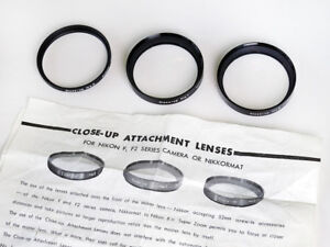 Nikon Close-Up Attachment Lenses Complete Set