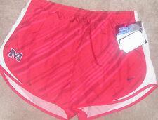 NEW NCAA Ole Miss Rebels Women Ladies Running Shorts XL X-Large Dri Fit NWT