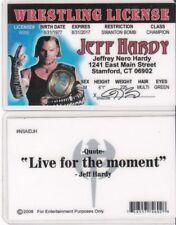 WF Wrestling License JEFF HARDY wwf Drivers License FAKE ID driver's card wcw
