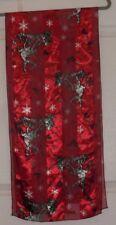 TERRIART Red Striped, Reindeer and Snowflakes 59x13 Long Scarf-Vintage
