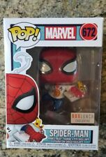 Funko Pop Marvel Spiderman With Pizza #672 Boxlunch Exclusive Mint