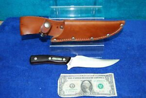 Vintage Old Timer 150T SCHRADE NY U.S.A. Hunter's Fixed Blade Knife w/ sheath