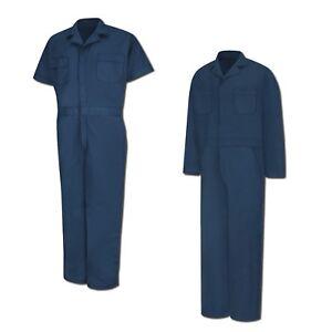 Red Kap Speedsuit Navy Short / Long Sleeve  Zip-Front Work Coverall Action Back