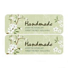 "24X ""Handmade"" Green Rectangle Sticker/ Label/ DIY Bakery Sticker"