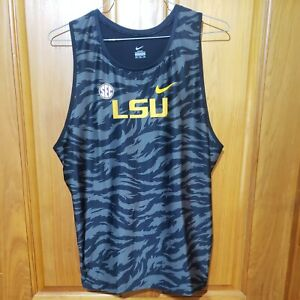 Made in USA Nike LSU TIGERS Team Issued Men's Track and Field Singlet Sz XXL