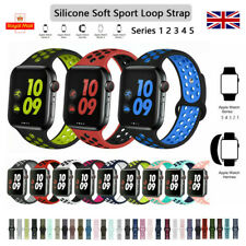 iBand for Apple Watch Strap Series 5 4 3 2 1, Soft Mesh Silicone Sport iWatch UK