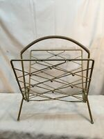 Vintage Mid Century Wire Magazine Rack Newspaper Stand Holder