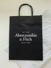 "New Abercrombie & Fitch A&F 12x9"" Store Shopping Paper Tote Bag+Gift Wrap Tissue"