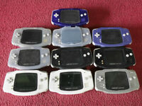 GameBoy Advance for parts Lot of 10 Set Nintendo random Console System GBA Junk