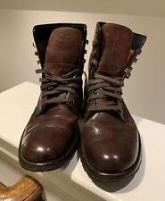 New listing Wolverine 1000 Mile Boots Brown Leather Lace Up Plain Toe Men Size Us 9D