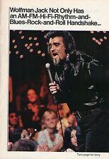 1973 TV ARTICLE~WOLFMAN JACK RADIO DISC JOCKEY~MIDNIGHT SPECIAL ROCK N ROLL SHOW
