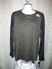 Long Sport Men's T-Shirt XL Fila Olive Green Black 92% polyester 8% spandex