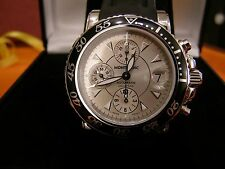 Montblanc Automatic Chronograph Silver Dial Rubber Strap Sport Watch