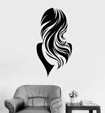 Vinyl Wall Decal Beautiful Back Woman Long Wavy Hair Girl Stickers (2083ig)