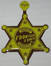 Frontier Town Deputy Tin Badge Given Away To Kids - Lake George
