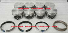 Chevy 454 Speed Pro Hypereutectic Flat Top Float Pin Pistons+MOLY Rings Set +30
