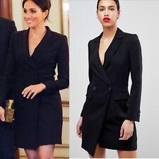 STUNNING KAREN MILLEN BLACK TUXEDO  DRESS UK SIZE 14 RRP £225