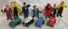 "Lot of 11 Dick Tracy 4"" Pvc 7 Figurines 4 Cars Disney Applause Big Boy Lg131"