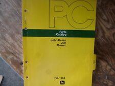 John Deere 250 Mower Parts Catalog Manual Book Original Pc-1384