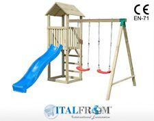 Altalena Doppia e Giochi da Giardino per Bambini in Legno ITALFROMBABY07