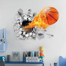Home Room Wall Decor 3D Basketball Wall Stick Vinyl Art Mural Decal Kid Bedroo