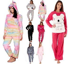 Ladies Pyjamas Ladies Fleece Pyjamas Women's Fleece Pyjamas Girls Pyjamas Set