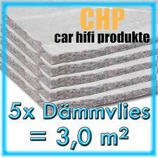 5x Dämmvlies 3m² selbstklebend CHP 10mm KFZ Schalldämmung PKW 5 Matten