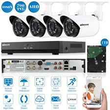 KKMOON 4CH 960H/D1 700TVL DVR Kit with 1TB Hard Drive + 4*Outdoor IR Camera E5Y8
