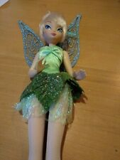 """Disney Store Tinkerbell 11"""" deluxe sparkling fairy doll"""