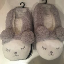 Cute Bear Bunny Footlet Slippers Size 6 7 8  Ladies Stocking Filler
