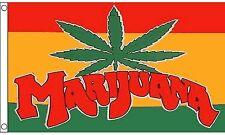 Cannabis Leaf Marijuana on Ethiopia 5'x3' Flag