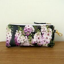 Glasses Case Pouch Faux Leather Handmade Flat Travel Bag Sunglasses Floral