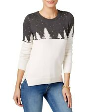 Holiday Arcade Women's Colorblock Christmas Sweater Charcoal Heather Small #5960
