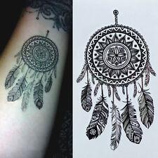 1 Blatt Tattoo Körpertattoo Aufkleber Hauttattoo Wasserfest Traumfänger Design