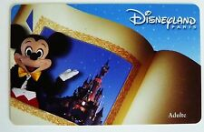 CARTE DE COLLECTION DISNEYLAND PARIS / LIVRE MICKEY / ADULTE