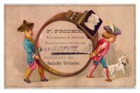 F. Fricke Watchmaker and Jeweler, Kansas City, MO Victorian Trade Card