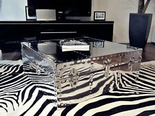 """Coffee Table - Hand Made Square Polished Chrome Metal """"Made To Order"""""""