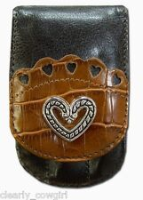 #8936 - WESTERN COWGIRL ESPRESSO BROWN SILVER HEART PURSE MANICURE SET -WOW!