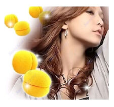 6 pcs Yellow Balls Soft Sponge Hair Care Curler Rollers Hair Styling