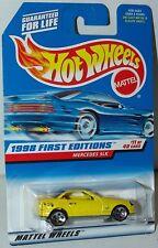 Hot Wheels 1998 First Editions 11/40 Mercedes SLK #646 MF Yellow HO5's Malaysia