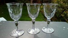 "Set di tre Crystal Sherry/Porta Occhiali, Unknown Maker, 2nds. 4.5"" ""Tall"