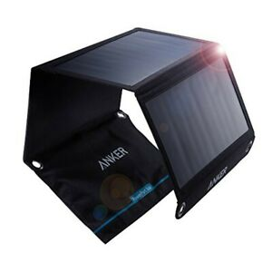 Anker PowerPort solar 21W 2-port USB solar charger For iPhone etc NEW