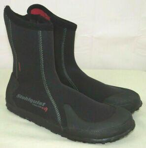 Stohlquist Tideline 5MM Men's Ergo Water Kayak Boots Side Zippers Booties 10 US